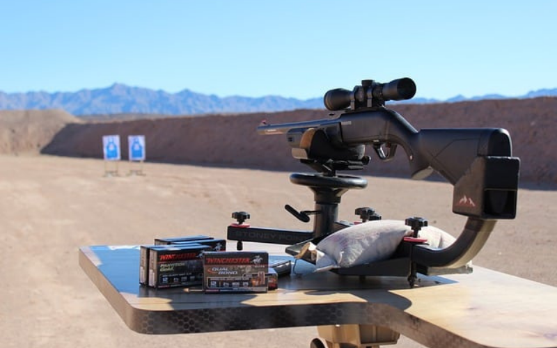 how to sight in rifle scope without boresighter